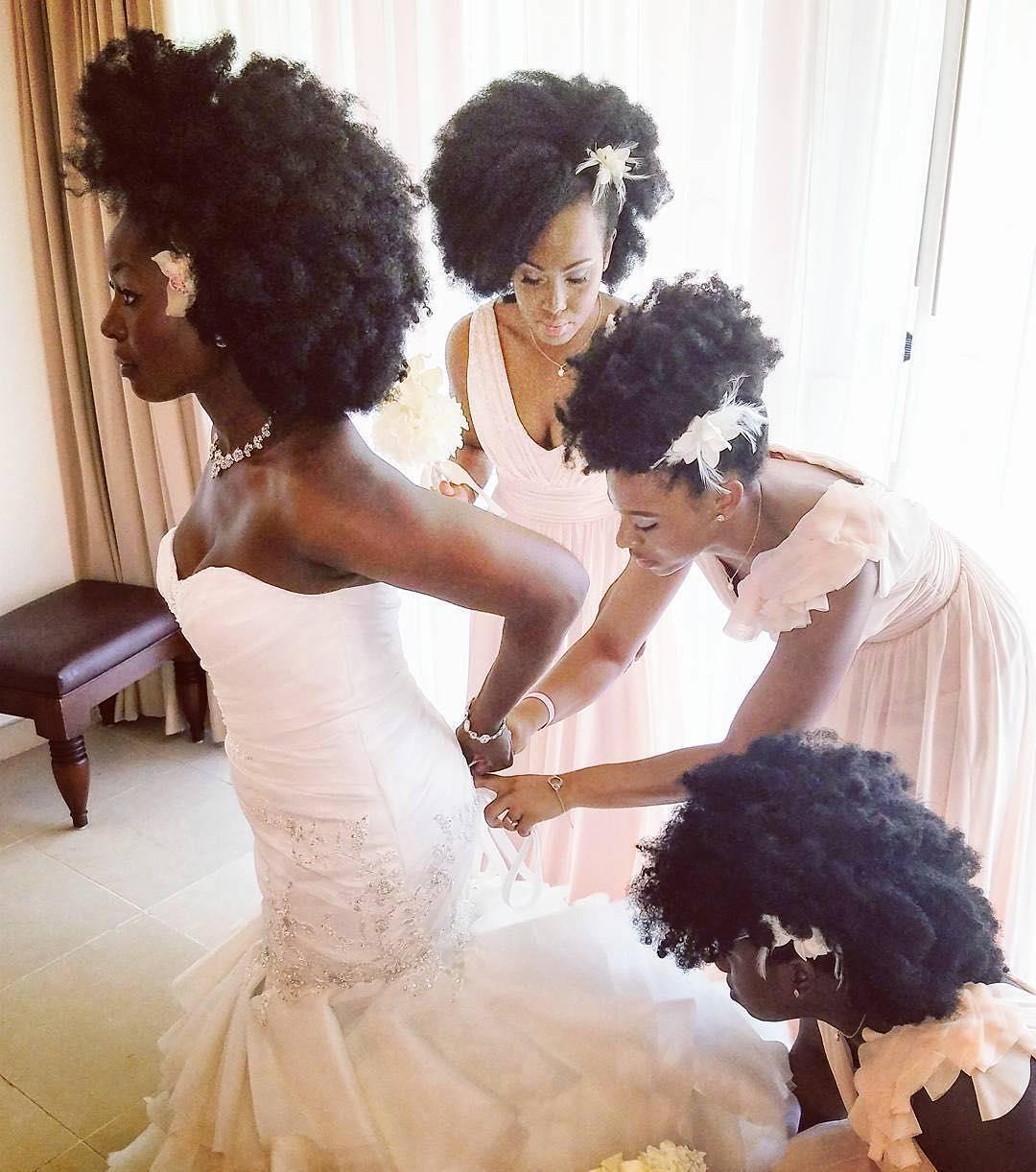 Natural Hair Bridal Party Ijeoma Kola